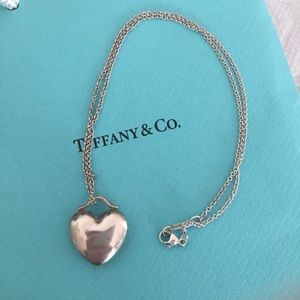 Jewelry - Tiffany and co Puffy Heart Necklace
